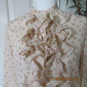 Ralph Lauren Floral Ruffled Blouse